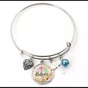 Jewelry - NEW BELIEVE charm bracelet with heart and cross
